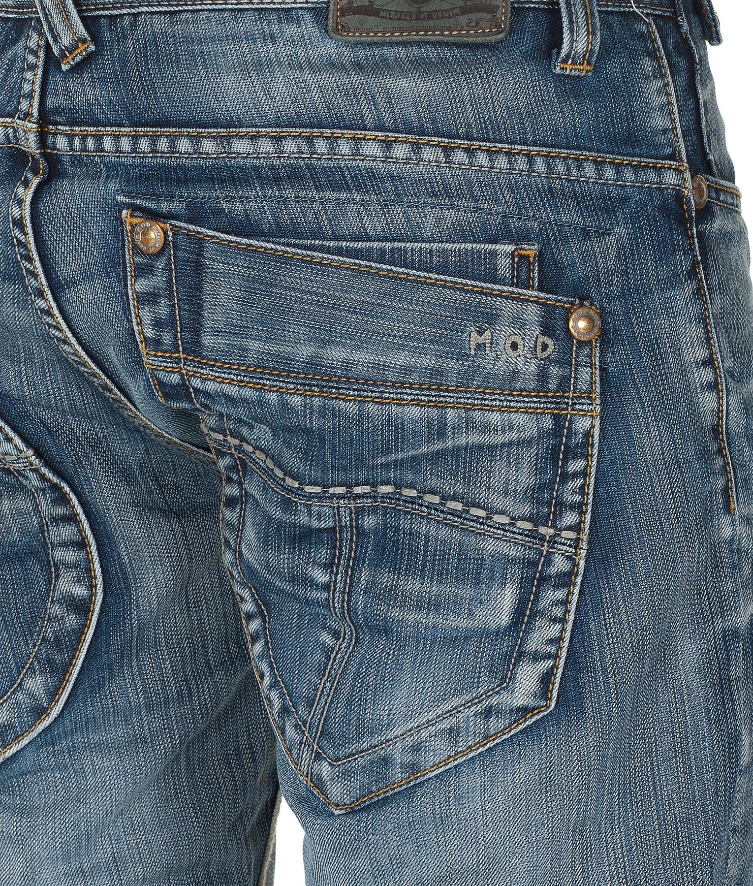 m o d jeans herren hose monopol 2012 star mod 1453 blau d g ebay. Black Bedroom Furniture Sets. Home Design Ideas