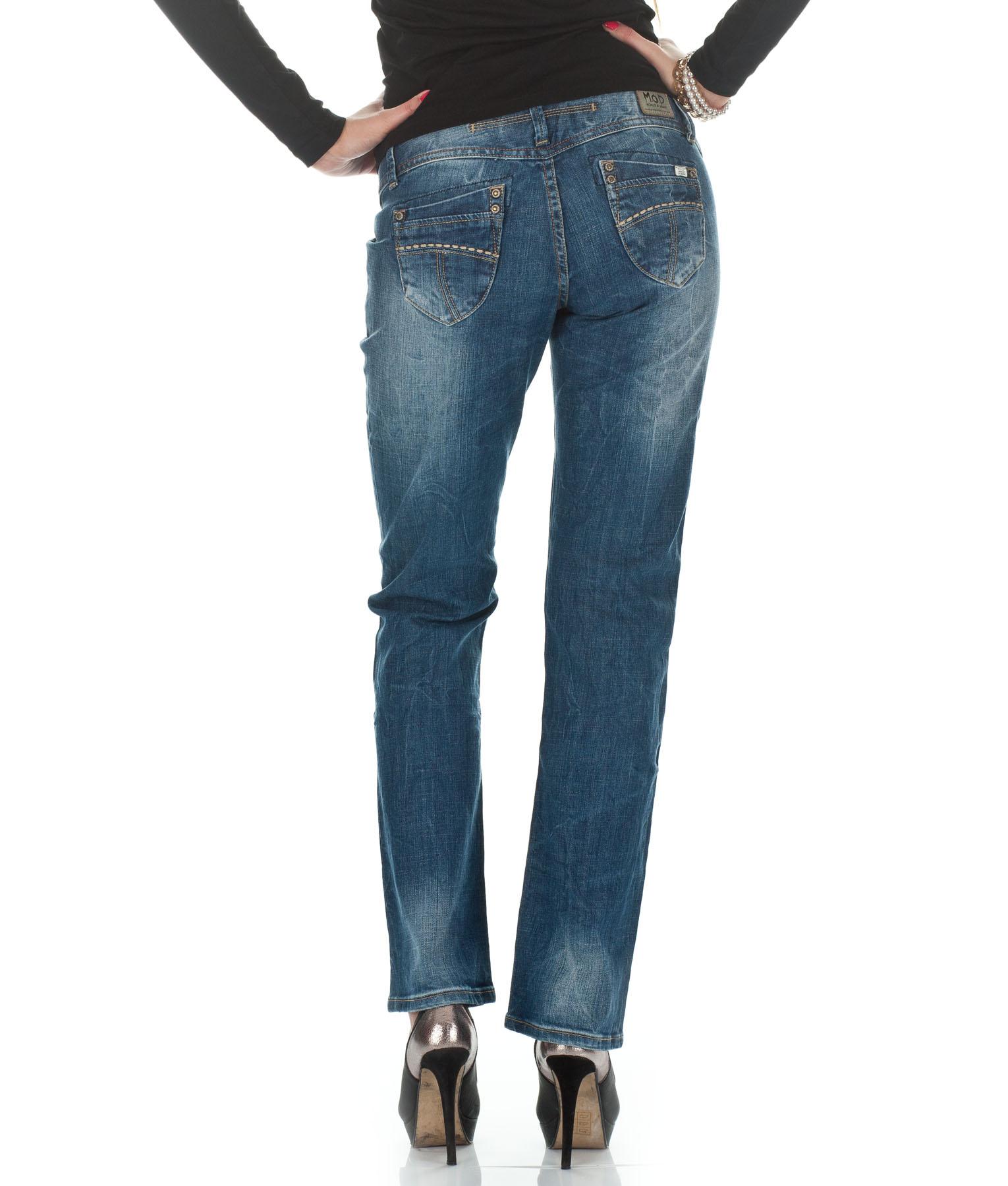 m o d jeans damen hose monopol 2012 star mod 4468 blau d g ebay. Black Bedroom Furniture Sets. Home Design Ideas